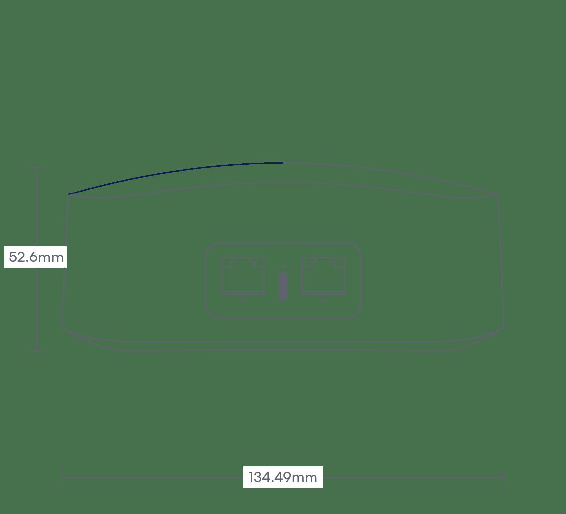 dimensions image: eero Pro 6 (3-pack)